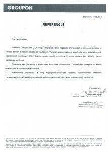 Referencje negocjatora Pawła Gołembiewskiego od Grupon Sp. z o. o.